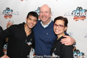Telly Leung, Matthew Woolf and Lea Salonga. Photo by Lia Chang