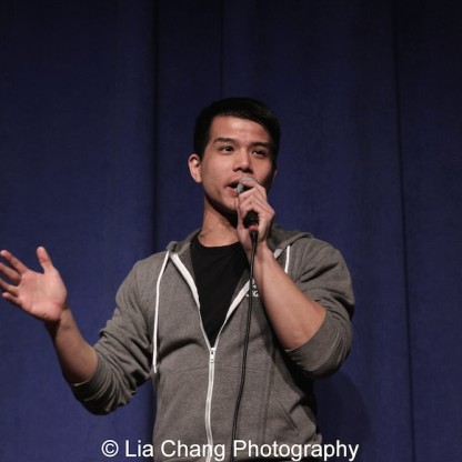 ALLEGIANCE star Telly Leung shared the story of his parents' journey to America at the P.S. 87 Pan Asian Lunar New Year Celebration at the William T Sherman School in New York on January 29, 2016. Photo by Lia Chang
