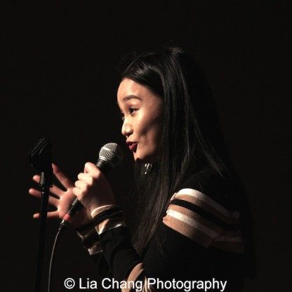 "Yoonjeong Seong sings ""Tonight"" from ""West Side Story"" in English and Korean at the P.S. 87 Pan Asian Lunar New Year Celebration at the William T Sherman School in New York on January 29, 2016. Photo by Lia Chang"