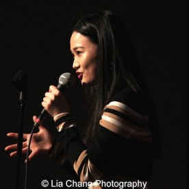"""Yoonjeong Seong sings """"Tonight"""" from """"West Side Story"""" in English and Korean at the P.S. 87 Pan Asian Lunar New Year Celebration at the William T Sherman School in New York on January 29, 2016.Photo by Lia Chang"""