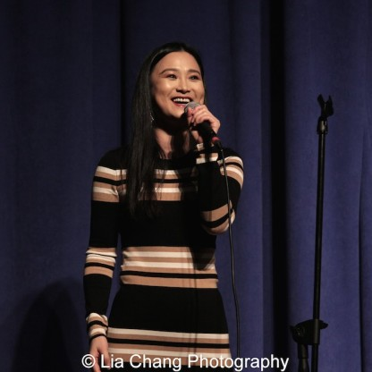 "Yoonjeong Seong sings ""Tonight"" from ""West Side Story"" in English and Korean at the P.S. 87 Pan Asian Lunar New Year Celebration at the William T Sherman School in New York on January 29, 2016.Photo by Lia Chang"
