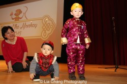Zhong Yu (1 years old) and his brother Brad (4 years old) at the Metropolitan Museum of Art's annual Lunar New Year festival on February 6, 2016 in New York. Photo by Lia Chang