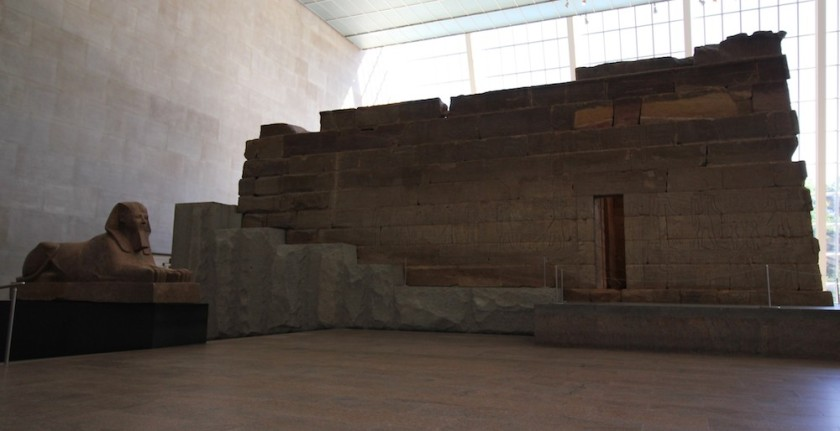 The Temple of Dendur at the Metropolitan Museum of Art in New York. Photo by Lia Chang