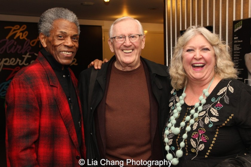 André De Shields, Len Cariou and Catherine Byers. Photo by Lia Chang