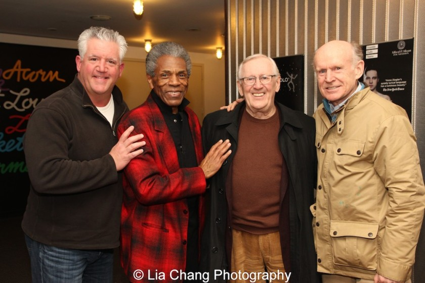 Gregory Jbara, André De Shields, Len Cariou and James Murtaugh. Photo by Lia Chang