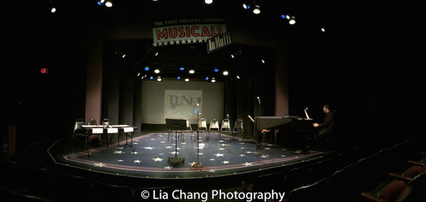 Tune in Time Musical Theater Game Show at the York Theatre in New York on March 14, 2016. Photo by Lia Chang