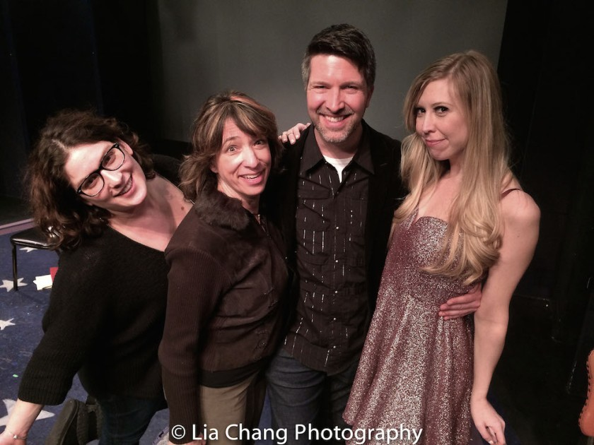 Tune in Time Managing Producer Heather Shields, Artistic Producer Amy Engelhardt, Musical Director Brad Simmons and Host Emily McNamara. Photo by Lia Chang