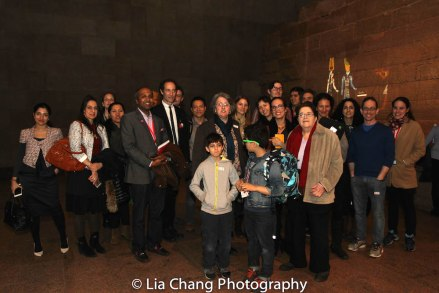 The #metfridays #metwalk group at the Temple of Dendur at the Metropolitan Museum of Art in New York on March 4, 2016. Photo by Lia Chang