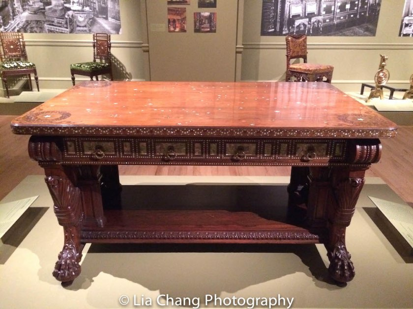 A rosewood table designed by Herter Brothers for the William H. Vanderbilt House. Photo by Lia Chang