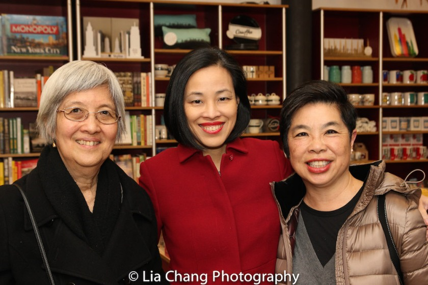 I had a lovely reunion with friends of my mother, May Chen and Katie Quan at the Lower East Side Tenement Museum in New York on March 8, 2016. Photo by Lia Chang