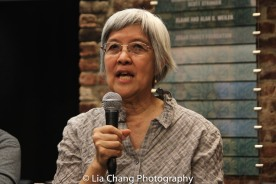 May Chen, a labor organizer who has been actively engaged in outreach and advocacy for immigrant workers for more than 20 years, working with the International Ladies' Garment Workers' Union at the Lower East Side Tenement Museum in New York on March 8, 2016. Photo by Lia Chang