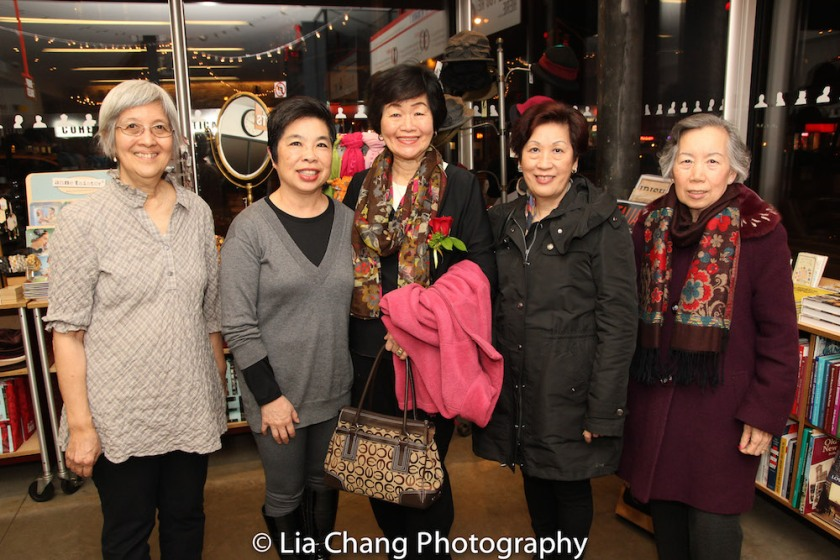 May Chen, Katie Quan, Connie Ling, Alice Ip, Agnes Wong at the Lower East Side Tenement Museum on March 8, 2016. Photo by Lia Chang