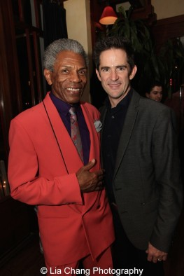 André De Shields and Andy Blankenbuehler. Photo by Lia Chang