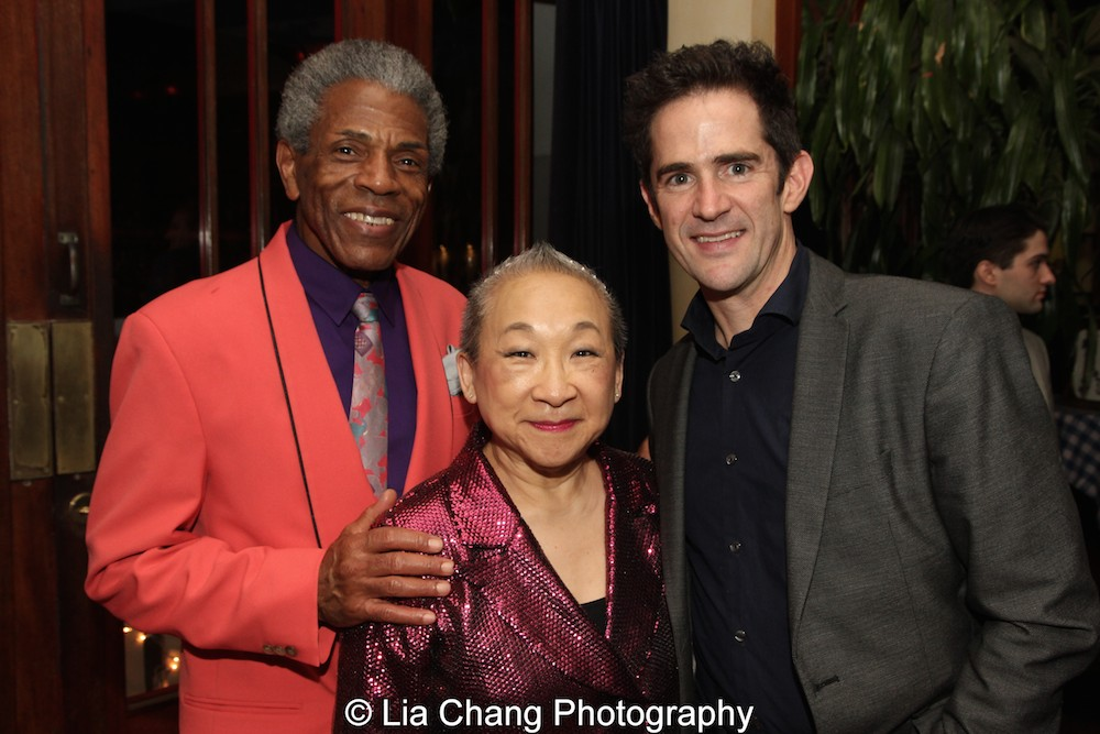 André De Shields, Lori Tan Chinn and Andy Blankenbuehler. Photo by Lia Chang