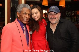 André De Shields, Yoka Wao and her husband composer Frank Wildhorn. Photo by Lia Chang