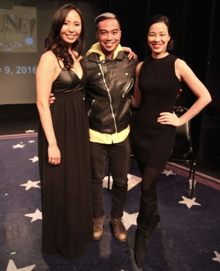 Emily Borromeo, Enrico Rodriguez and Lia Chang. Photo by Garth Kravits.