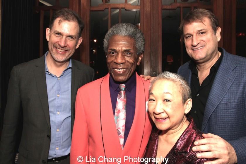Henry Rinehart, André De Shields, Lori Tan Chinn and Jeff Calhoun. Photo by Lia Chang