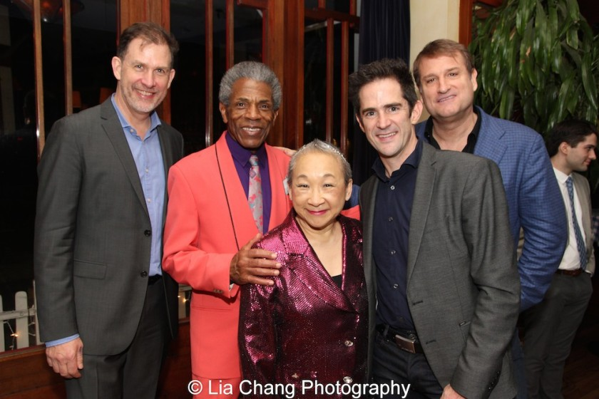 Henry Rinehart, André De Shields, Lori Tan Chinn, Andy Blankenbuehler and Jeff Calhoun. Photo by Lia Chang