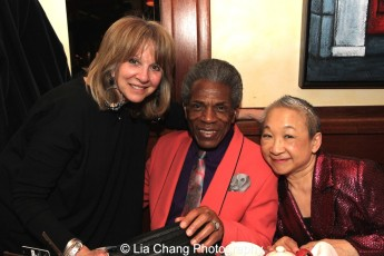 Producer Sharon A. Carr, André De Shields and Lori Tan Chinn. Photo by Lia Chang