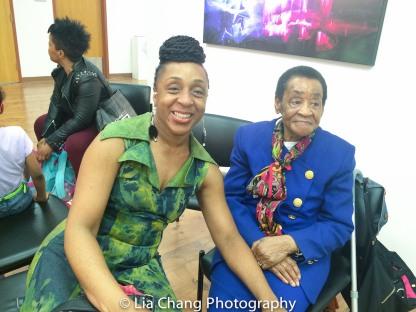 Ethel Calhoun and Mrs. Calhoun at the Will Calhoun AZA Exhibit at Casita Maria Gallery in New York on April 22, 2016. Photo by Lia Chang