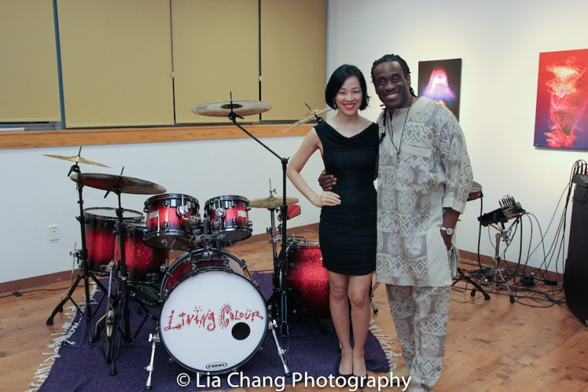 Lia Chang and Will Calhoun at Calhoun's AZA Exhibit at Casita Maria Gallery in New York on April 22, 2016. Photo by Garth Kravits