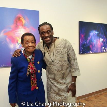 Will Calhoun and his mother at Calhoun's AZA Exhibit at Casita Maria Gallery in New York on April 22, 2016. Photo by Lia Chang