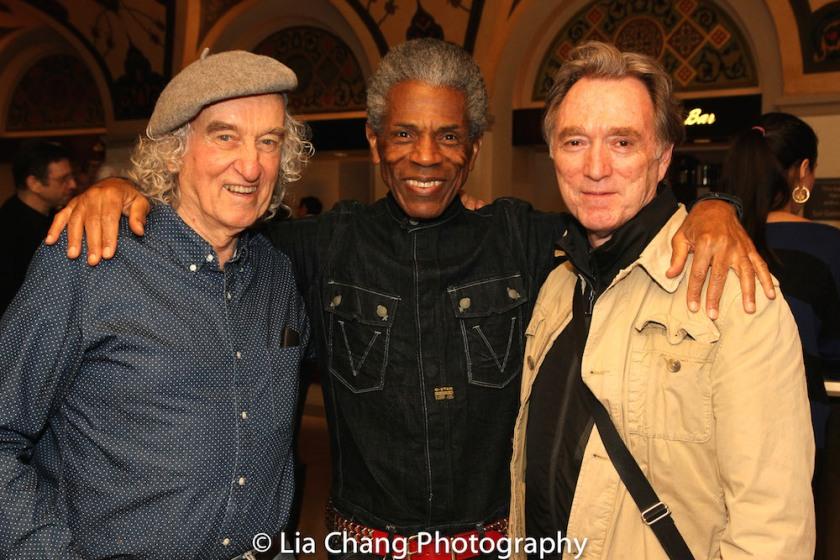 Macintyre Dixon, André De Shields and Michael Medeiros. Photo by Lia Chang