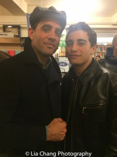 Bobby Cannavale with his son Jake at the Drama Book Shop in New York on April 5, 2016. Photo by Lia Chang