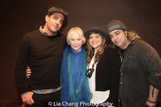 Bobby Cannavale, Ellen Burstyn, Paola Lázaro-Muñoz and Stephen Adly Guirgis at the Drama Book Shop in New York on April 5, 2016. Photo by Lia Chang