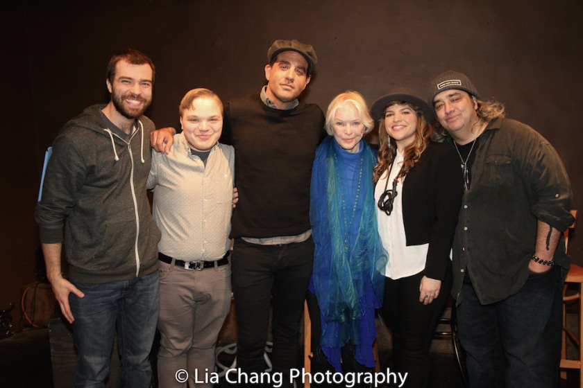Drama Book Shop employees Danny Blanda and Steven Carl McCasland with Bobby Cannavale, Ellen Burstyn, Paola Lázaro-Muñoz and Stephen Adly Guirgis at the Drama Book Shop in New York on April 5, 2016. Photo by Lia Chang