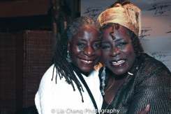Deborah Johnson with her sister, Ebony Jo-Ann. Photo by Lia Chang
