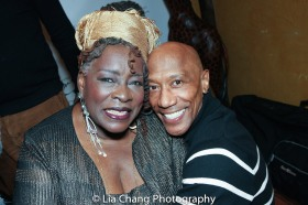 Ebony Jo-Ann and her makeup artist Danny Irby. Photo by Lia Chang