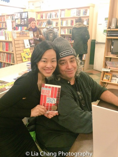 Lia Chang and Stephen Adly Guirgis at the Drama Book Shop in New York on April 5, 2016. Photo by Garth Kravits