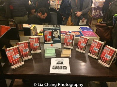Plays by Stephen Adly Guirgis for sale at the Drama Book Shop in New York on April 5, 2016. Photo by Lia Chang
