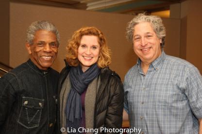 André De Shields, Christiane Noll and Tom Alan Robbins. Photo by Lia Chang