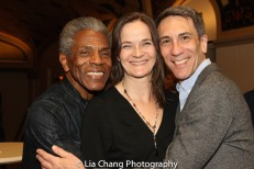 André De Shields, Enid Graham and her husband Robert Sella. Photo by Lia Chang