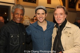 André De Shields, Santino Fontana and Michael Medeiros. Photo by Lia Chang