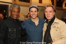 André De Shields, Santino Fontana and Michael Medeiros. Photo by Lia Chang