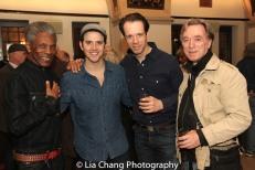 André De Shields, Santino Fontana, Laird Macintosh and Michael Medeiros. Photo by Lia Chang