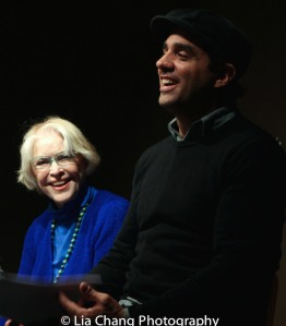 Ellen Burstyn and Bobby Cannavale at the Drama Book Shop in New York on April 5, 2016. Photo by Lia Chang