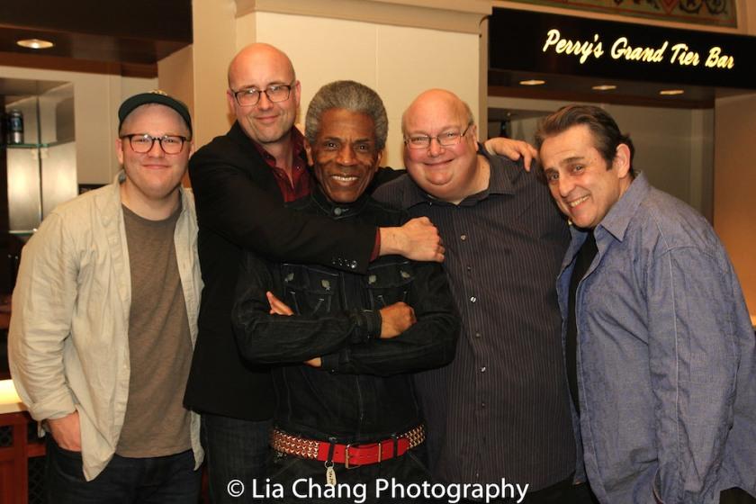 Jacob Keith Watson, Larry Bull, André De Shields, Ric Stoneback, Michael McCormick. Photo by Lia Chang