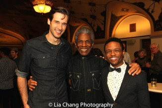 John Behlmann, André De Shields and John-Michael Lyles. Photo by Lia Chang