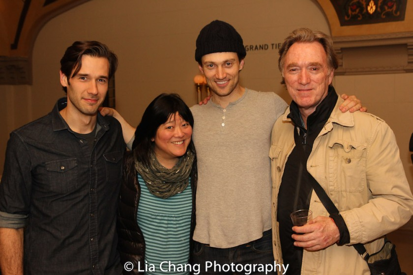 John Behlmann, Ann Harada, Bryce Pinkham and Michael Medeiros. Photo by Lia Chang