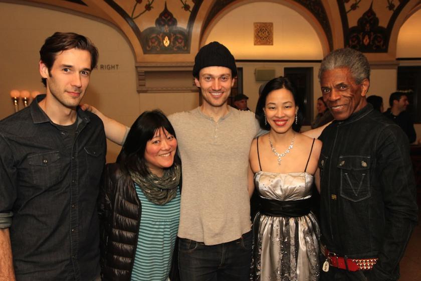 John Behlmann, Ann Harada, Bryce Pinkham, Lia Chang and André De Shields. Photo by Michael Medeiros
