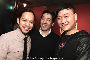Jon Norman Schneider, Peter Kim and Chongren Fan. Photo by Lia Chang