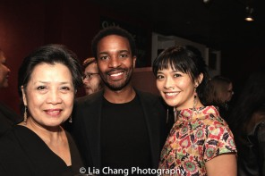 Mia Katigbak, Andre Holland and Tiffany Villarin. Photo by Lia Chang