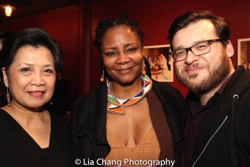 Mia Katigbak, Tonya Pinkins and playwright Christopher Oscar Peña. Photo by Lia Chang.