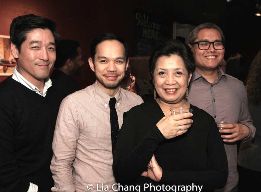 Peter Kim, Jon Norman Schneider, Mia Katigbak and A. Rey Pamatmat. Photo by Lia Chang