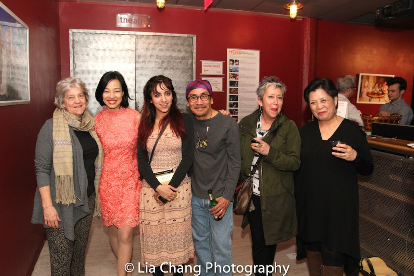 Sandra Stratton Gonzalez, Lia Chang, Zoe Gonzalez, Jojo Gonzalez, Jessica Hagedorn and Mia Katigbak. Photo by Garth Kravits