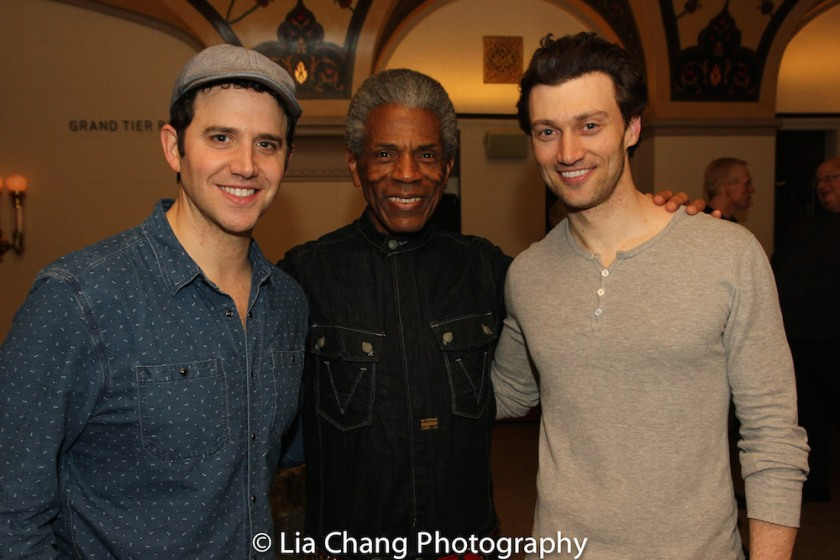 Santino Fontana, André De Shields and Bryce Pinkham. Photo by Lia Chang